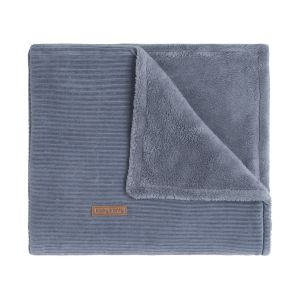Cot blanket teddy Sense vintage blue