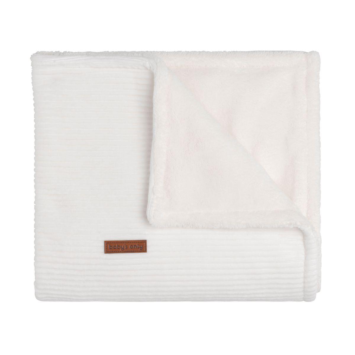 cot blanket teddy sense white
