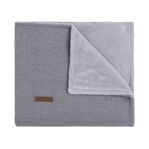 Cot blanket teddy Sparkle silver-grey melee