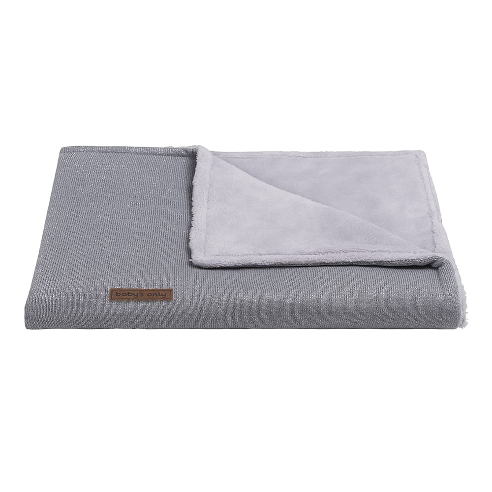 cot blanket teddy sparkle silvergrey melee
