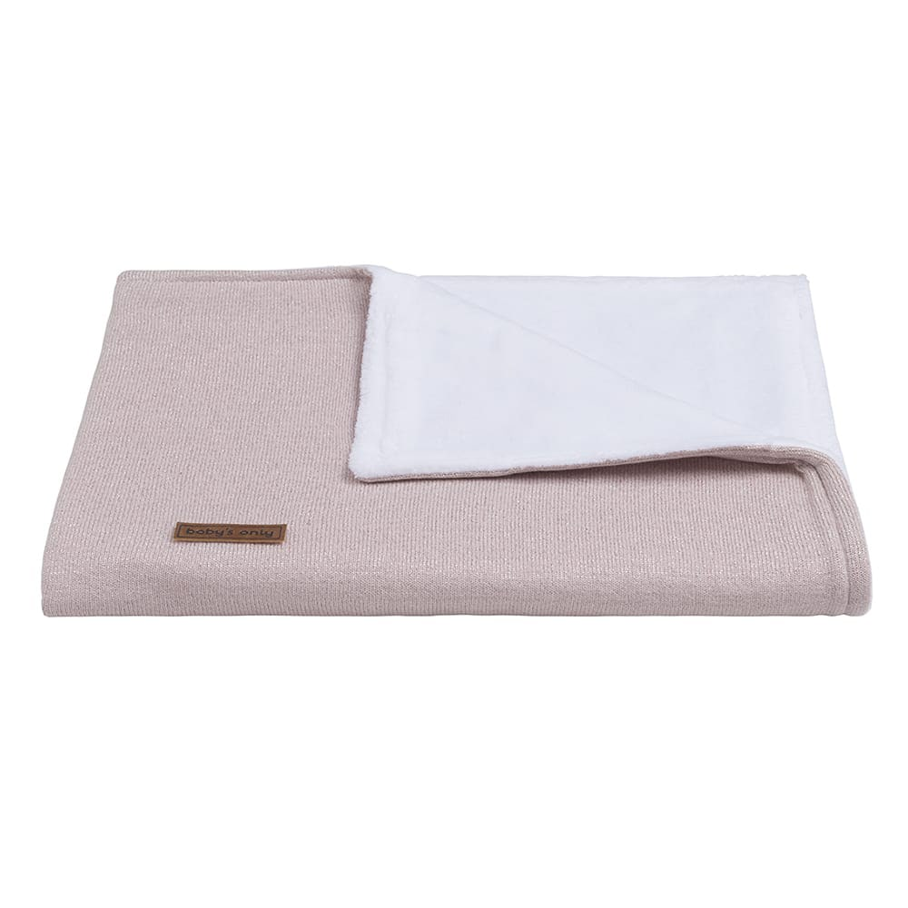 cot blanket teddy sparkle silverpink melee