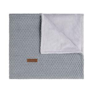 Cot blanket teddy Sun grey/silver-grey