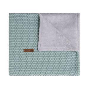 Cot blanket teddy Sun mint/stonegreen