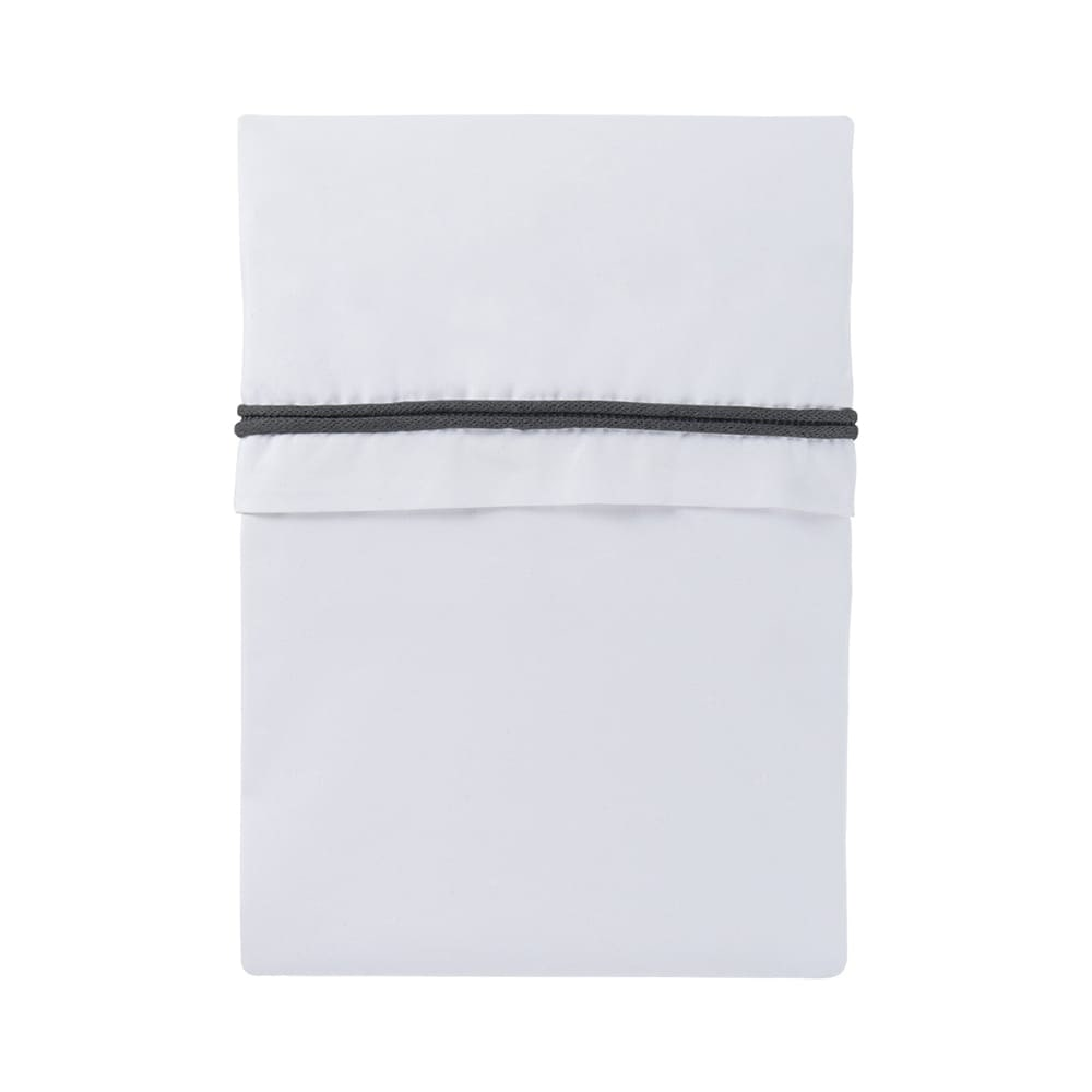 cot sheet knitted ribbon anthracitewhite