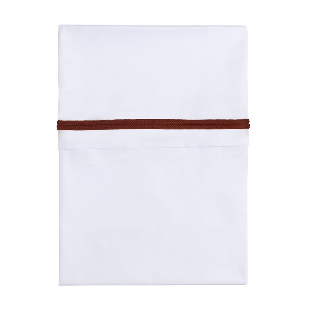 cot sheet knitted ribbon briquewhite