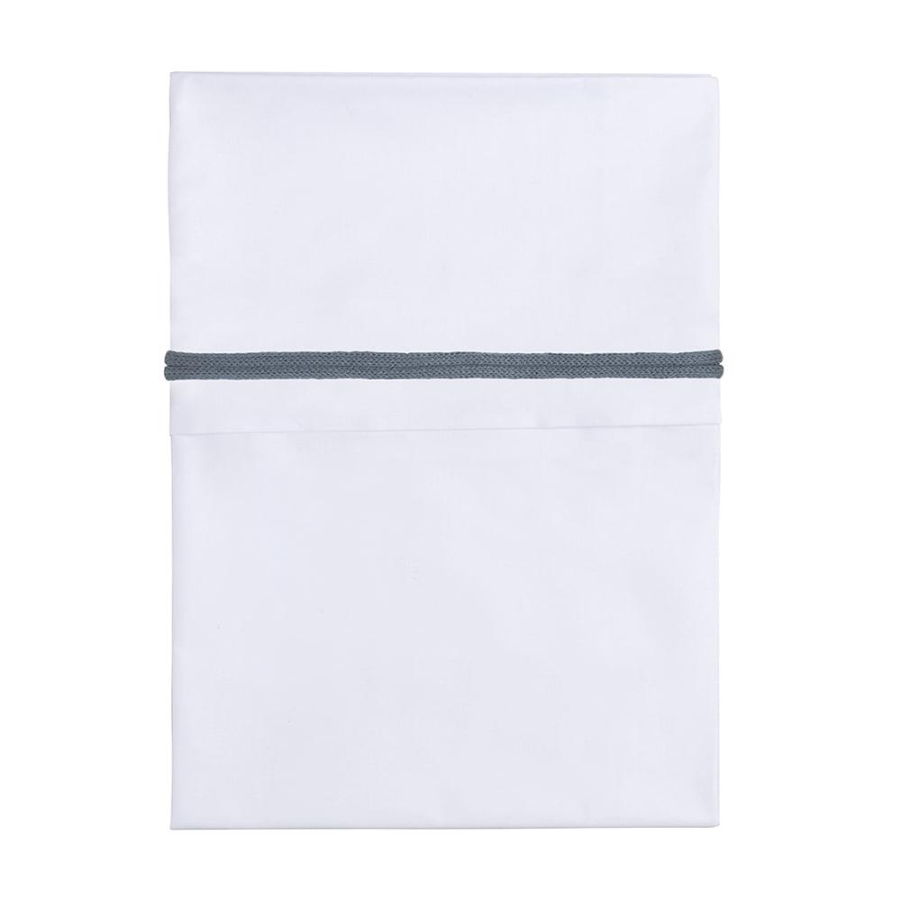 cot sheet knitted ribbon granitwhite