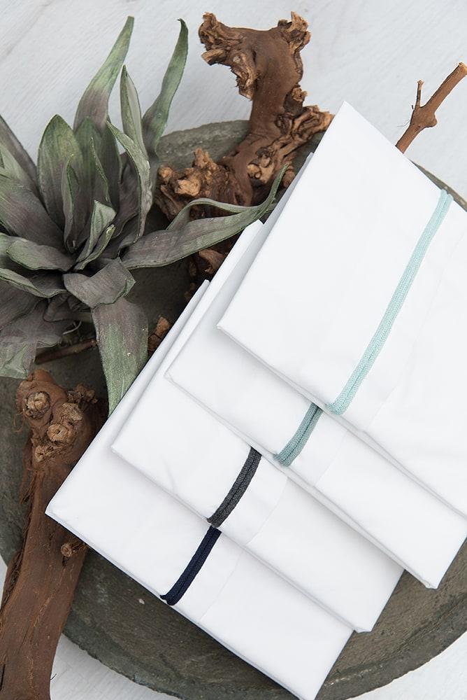 cot sheet knitted ribbon khakiwhite