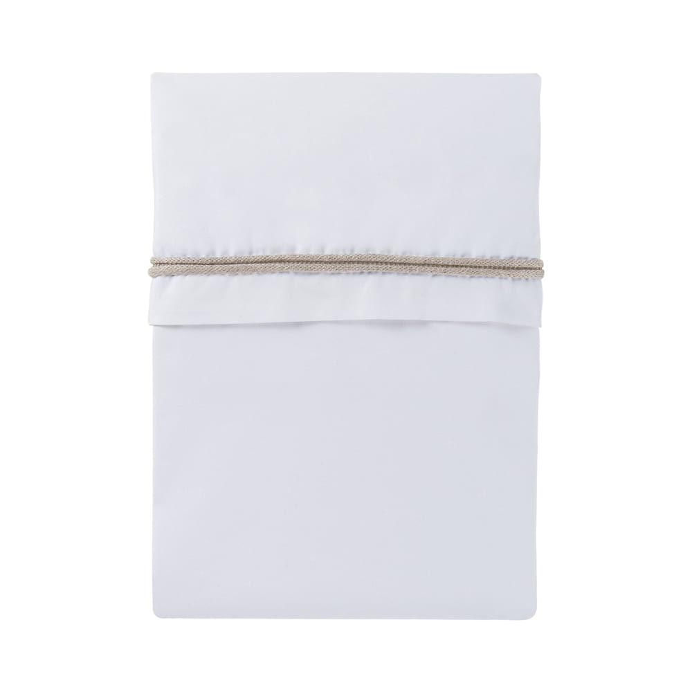 cot sheet knitted ribbon sandwhite
