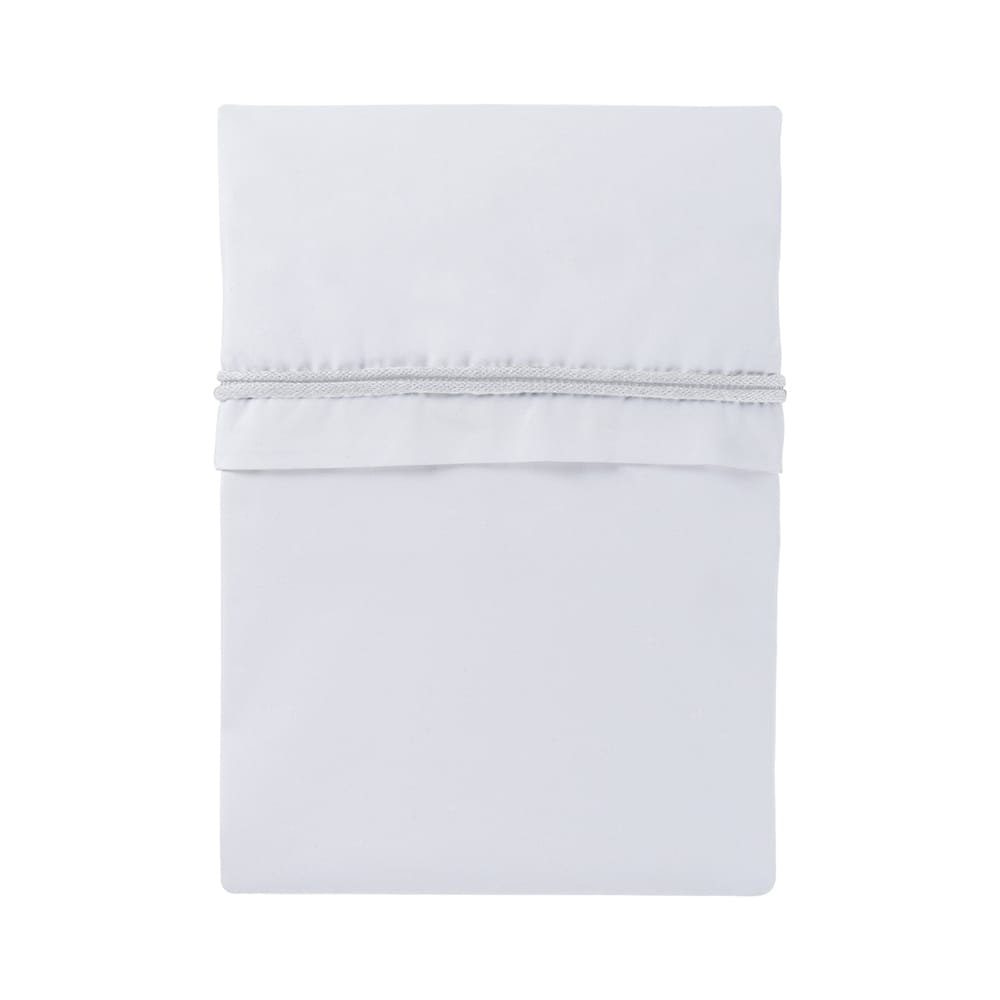 cot sheet knitted ribbon white