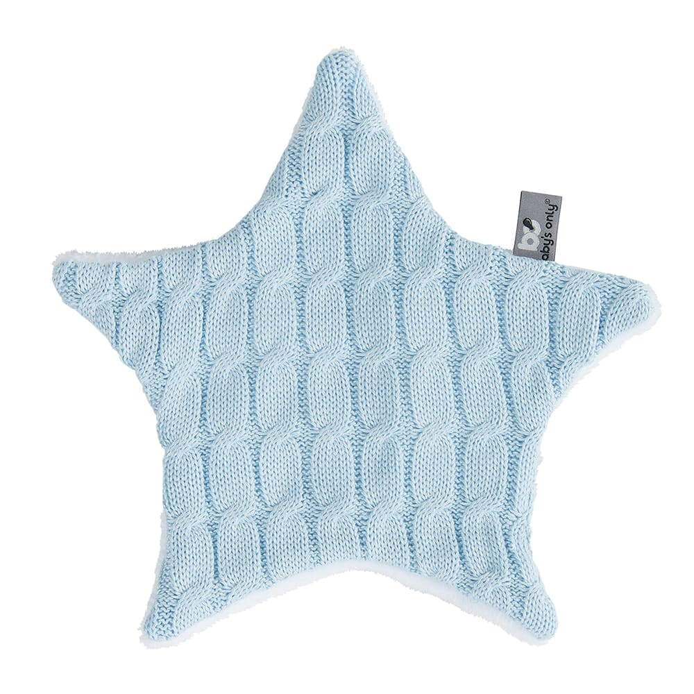 cuddle cloth star cable baby blue