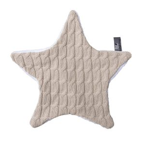 Cuddle cloth star Cable beige