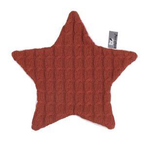 Cuddle cloth Star Cable brique