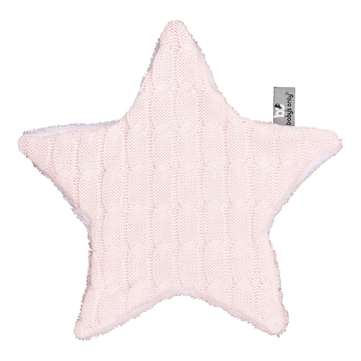 cuddle cloth star cable classic pink