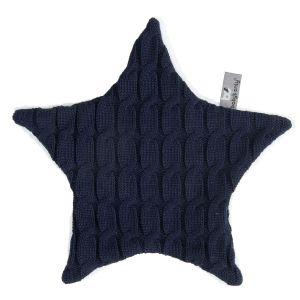 Cuddle cloth star Cable dark blue