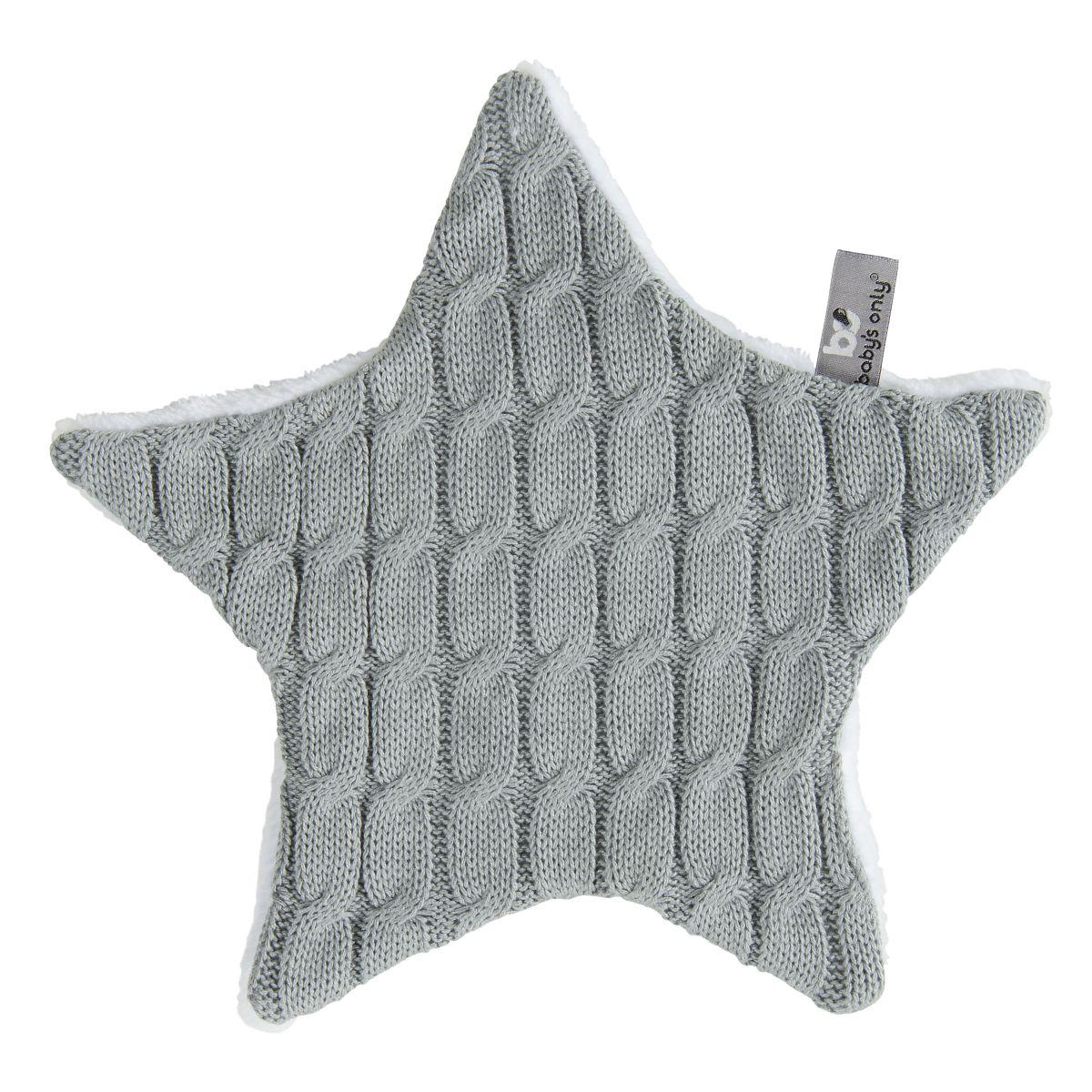 cuddle cloth star cable grey