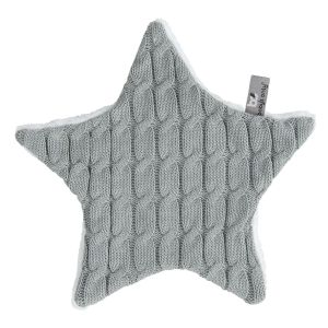 Cuddle cloth Star Cable grey