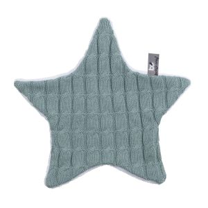 Cuddle cloth star Cable stonegreen