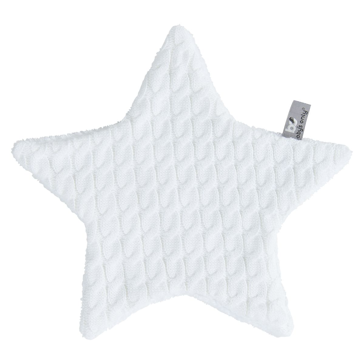 cuddle cloth star cable white