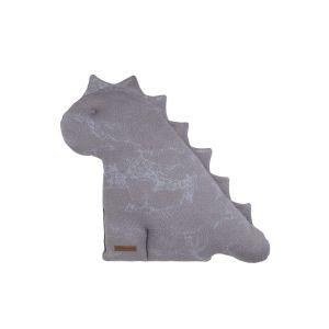 Cuddly dino Marble cool grey/lilac - 40 cm