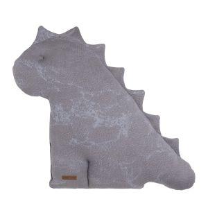 Cuddly dino Marble cool grey/lilac - 55 cm
