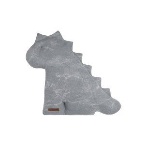 Cuddly dino Marble grey/silver-grey - 40 cm