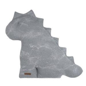 Cuddly dino Marble grey/silver-grey - 55 cm