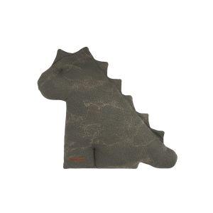 Cuddly dino Marble khaki/olive - 40 cm