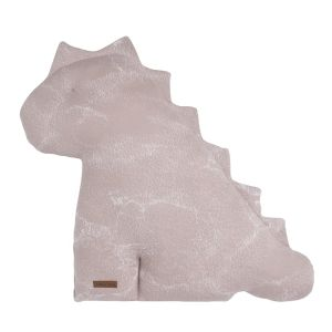 Cuddly dino Marble old pink/classic pink - 55 cm