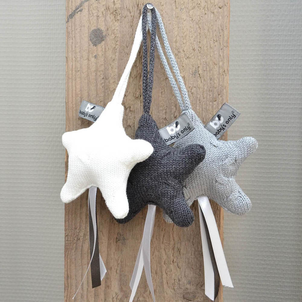 decoration star cable baby blue