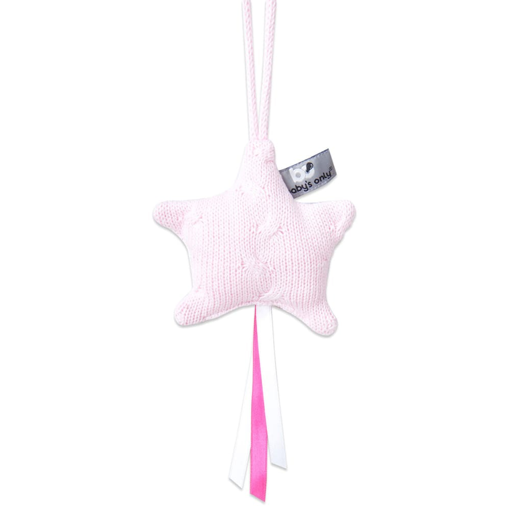 decoration star cable baby pink