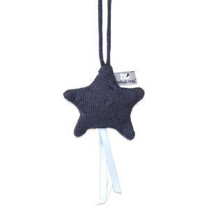 Decoration star Cable dark blue