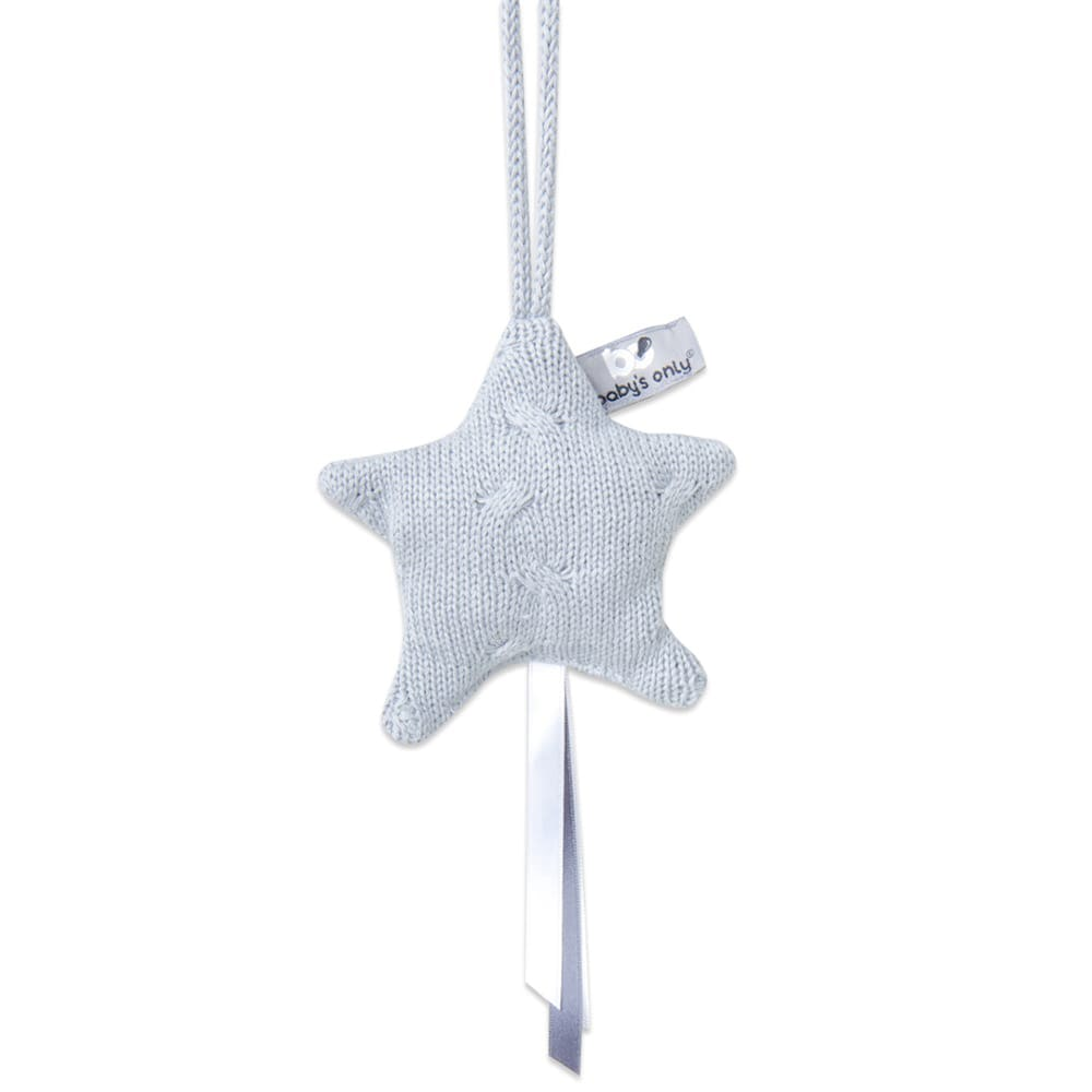 decoration star cable grey