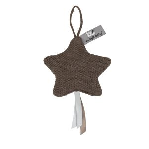 Decoration star Classic cacao