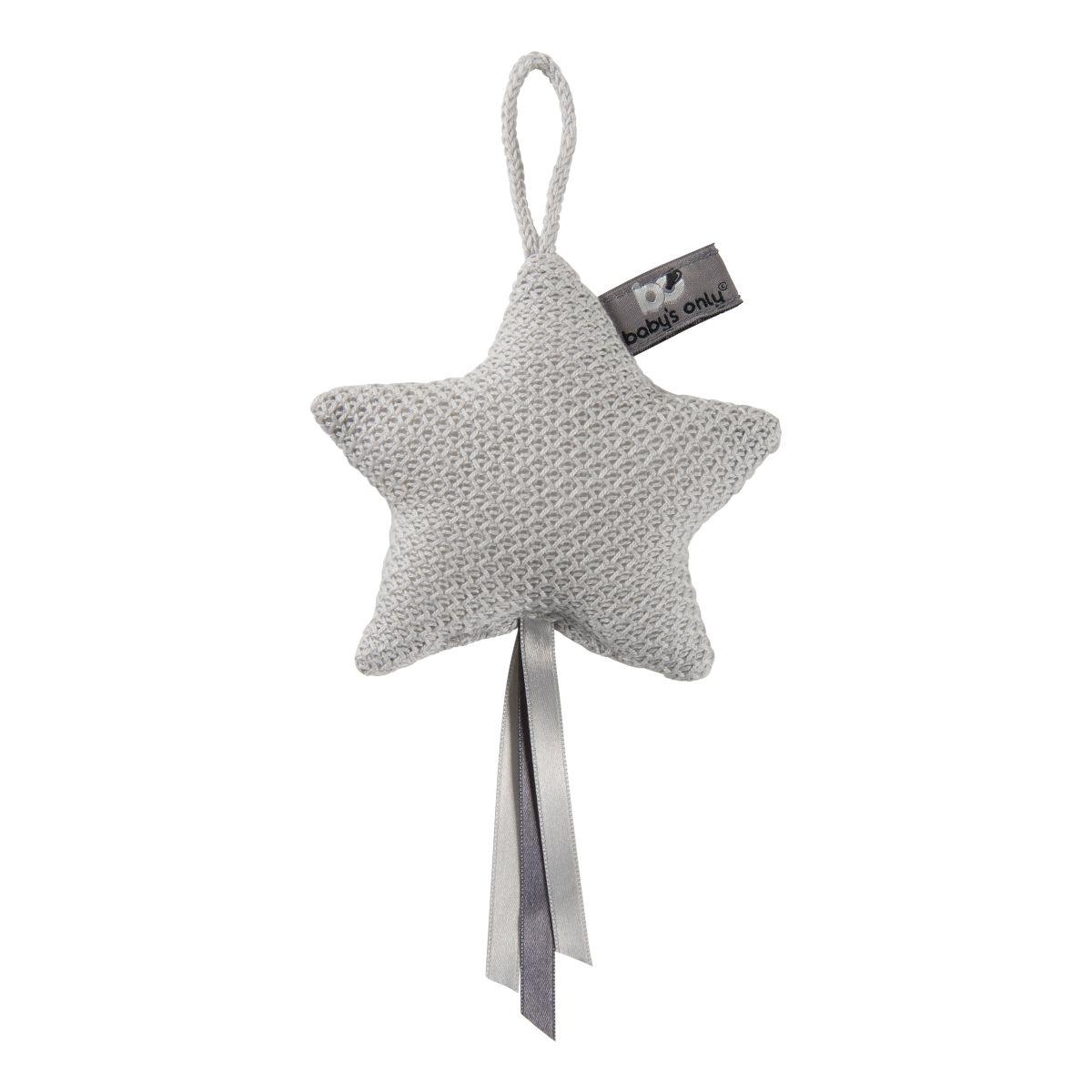 decoration star classic silvergrey
