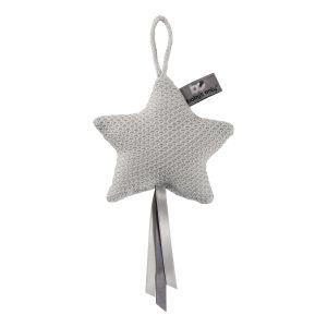 Decoration star Classic silver-grey