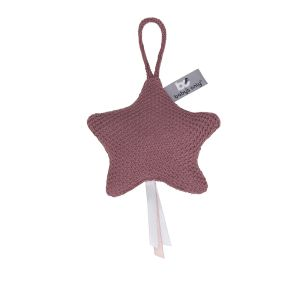 Decoration star Classic stone red