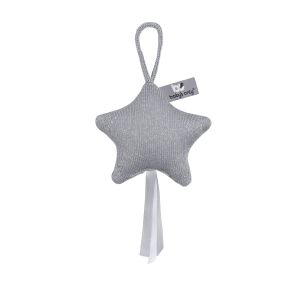 Decoration Star Sparkle silver-grey melee