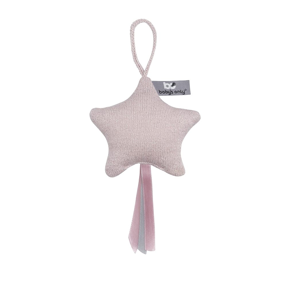 decoration star sparkle silverpink melee