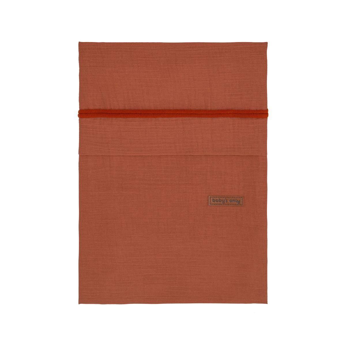 duvet cover breeze rust 100x135