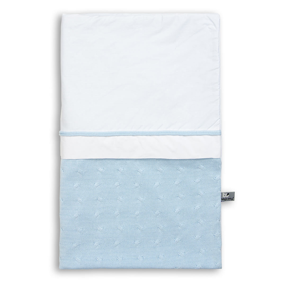 duvet cover cable baby blue 100x135