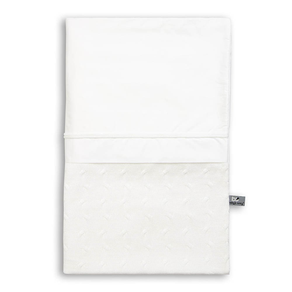 duvet cover cable white 100x135