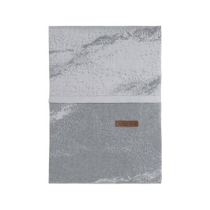 Duvet cover Marble grey/silver-grey - 100x135