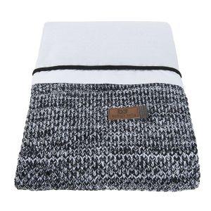 Duvet cover River black/white melee - 100x135
