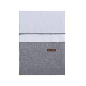 Duvet cover Sparkle silver-grey melee - 100x135