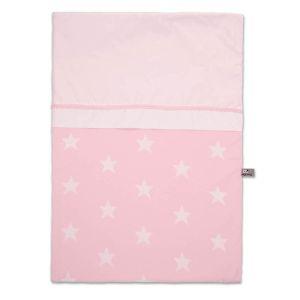 Duvet cover Star baby pink/white - 100x135