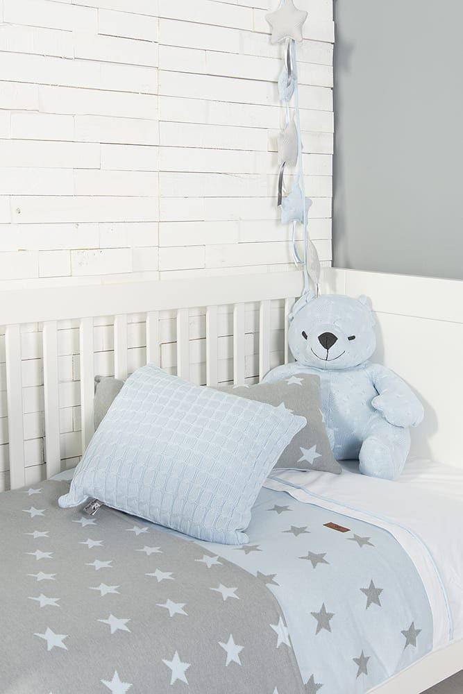 duvet cover star baby pinkwhite 100x135