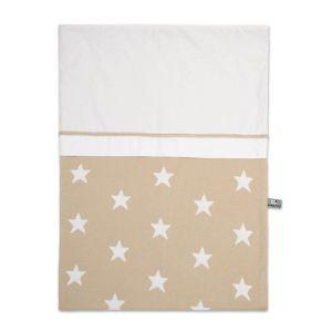 Duvet cover Star beige/white - 100x135