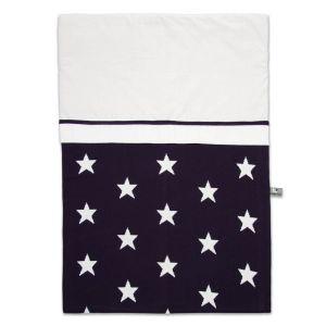 Duvet cover Star dark blue/white - 100x135