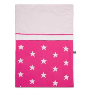 Duvet cover Star fuchsia /white - 100x135