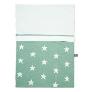 Duvet cover Star mint/white - 100x135